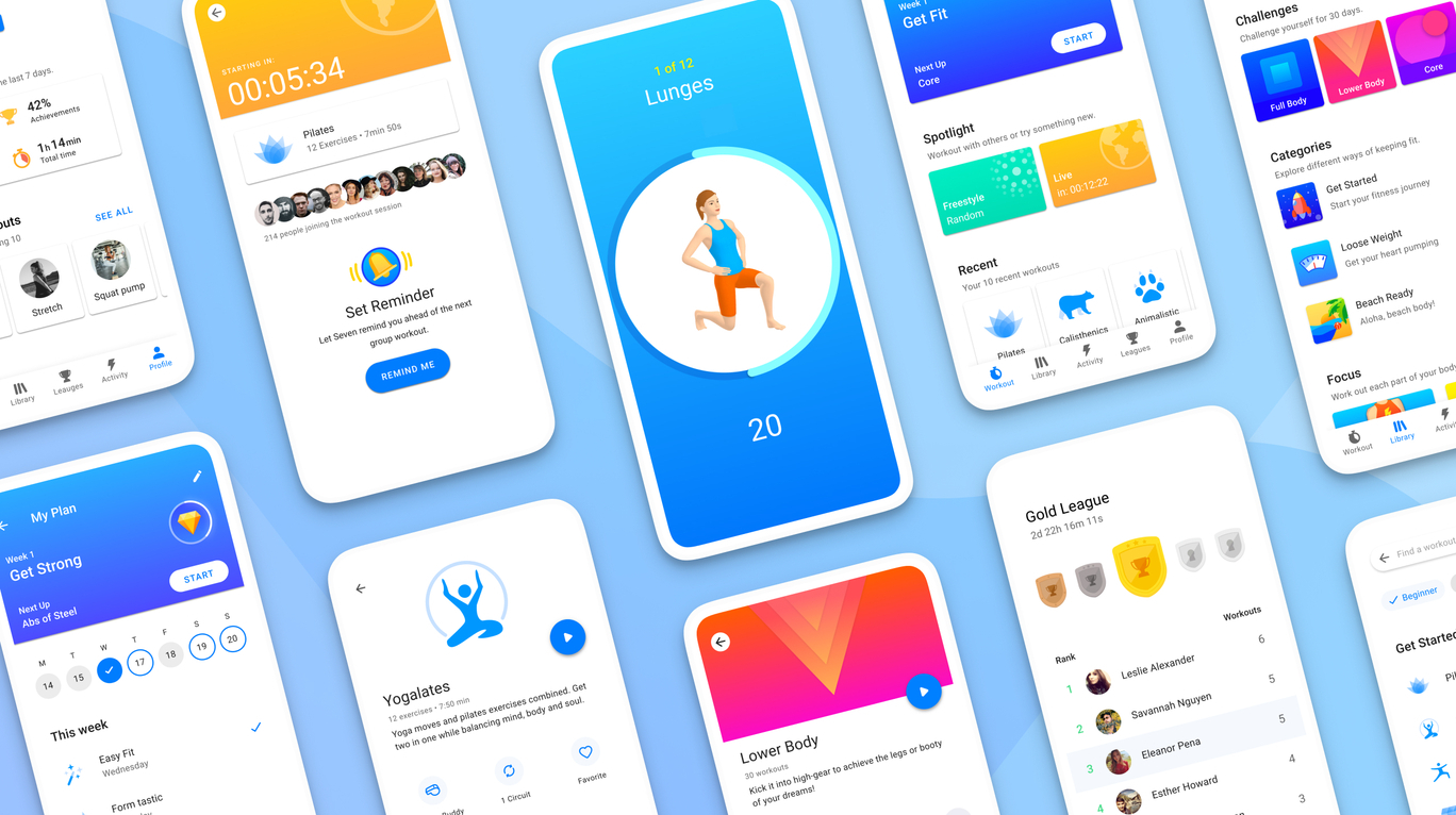 Android redesign workout