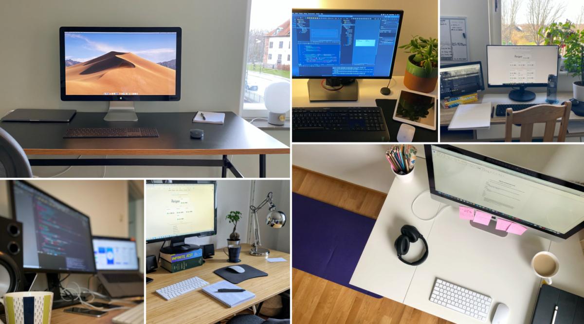 Workspace collage